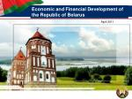 Economic and Financial Development of the Republic of Belarus