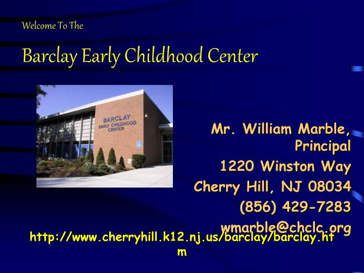 barclay early childhood center n.