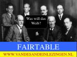 FAIRTABLE      9 JANUARI 2012