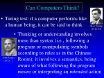 Can Computers Think?