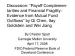 By Chester Spatt Carnegie Mellon Unversity April 17, 2008 FDIC/Federal Reserve Bank of Cleveland Conference